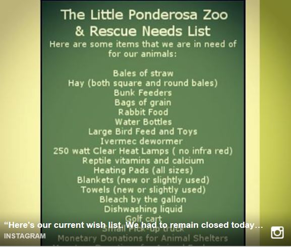 HPAN contributes funding to help with Little Ponderosa Zoo's wish list.